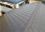 三州瓦で葺き替えた後の屋根